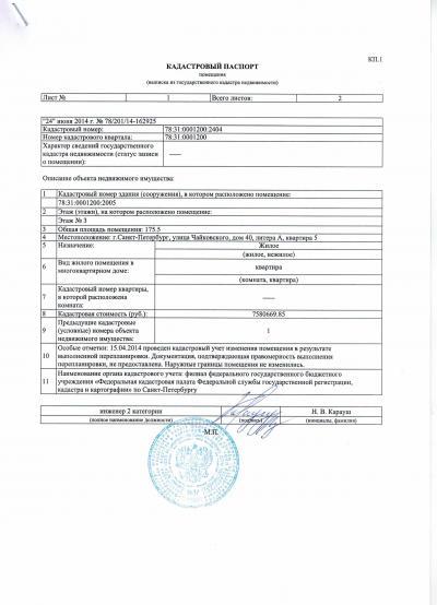 Фото - Документы для получения кадастрового паспорта на квартиру